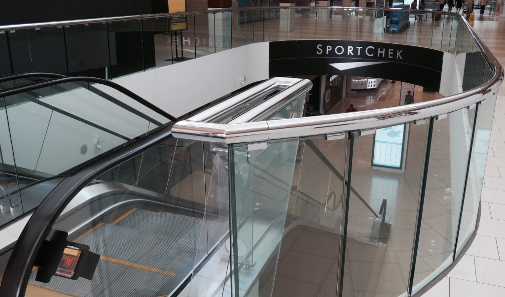 Railing in South Centre Mall