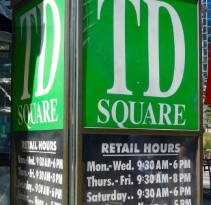 TD Square Sign